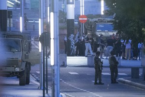 Explosion at Brussels central station (ANSA)