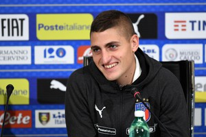 Italy's midfielder Marco Verratti speaks during a press conference held at Coverciano Sport Center, 13 November 2018 Florence. (ANSA)