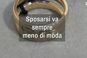 Matrimoni in calo in Italia (ANSA)