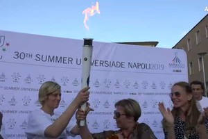 Universiadi, la fiaccola arriva a Benevento (ANSA)