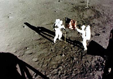 Gli astronauti dell'Apollo 11, protagonisti della prima missione americana (ANSA)