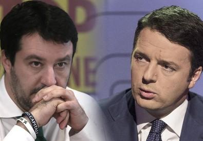 Matteo Salvini e Matteo Renzi (ANSA)