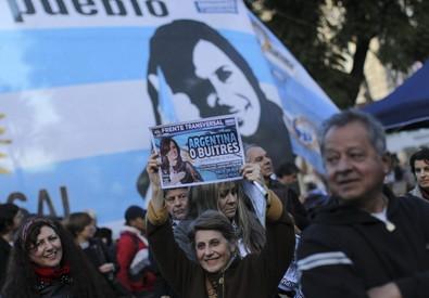 Sostenitori di Cristina Fernandez de Kirchner (ANSA)