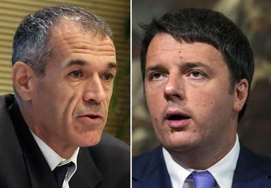 Carlo Cottarelli e Matteo Renzi (ANSA)