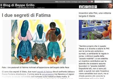 Blog Grillo, meglio Pinochet di Napolitano-Renzi-Berlusconi (ANSA)