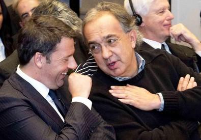 Matteo Renzi e Sergio Marchionne (archivio) (ANSA)