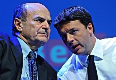 Matteo Renzi e Pier Luigi Bersani in una foto d'archivio (ANSA)