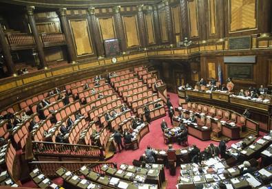 L'aula del Senato (ANSA)