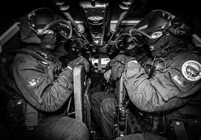 Mali: gruppo teste di cuoio francesi GIGN in partenza @Gendar (ANSA)