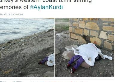 Il corpo della bimba siriana trovata sulla spiaggia di Pirlanta, Turchia (ANSA)