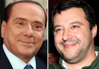 Silvio Berlusconi (s) e Matteo Salvini (ANSA)