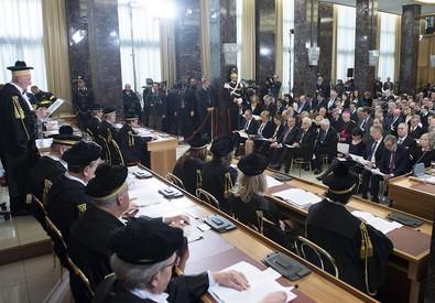 Inaugurazione dell'anno giudiziario della Corte dei Conti, Roma, 10  febbraio 2015. (ANSA)