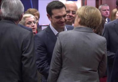 Angela Merkel e Alexis Tsirpas (ANSA)