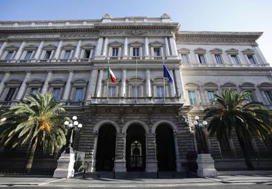 Veduta esterna della sede della Banca d'Italia, Palazzo Koch, a Roma in una foto d'archivio (ANSA)