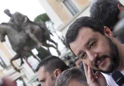 Matteo Salvini a Roma (ANSA)