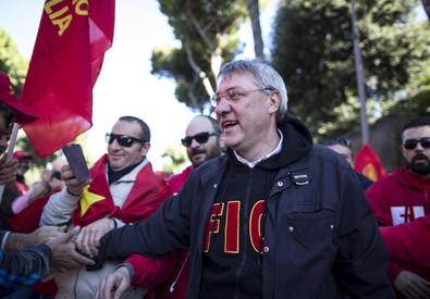 Il segretario della Fiom, Maurizio Landini in una foto d'archivio (ANSA)