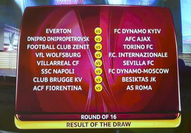 Europa League 2015, negli Ottavi il derby Fiorentina-Roma (ANSA)
