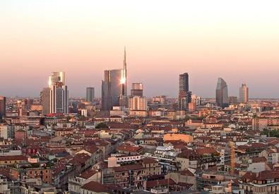 Panorama sui grattacieli di Porta Nuova (ANSA)