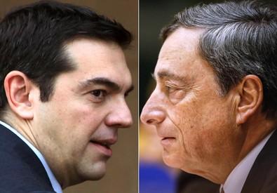 Mario Draghi e Alexis Tsipras (ANSA)