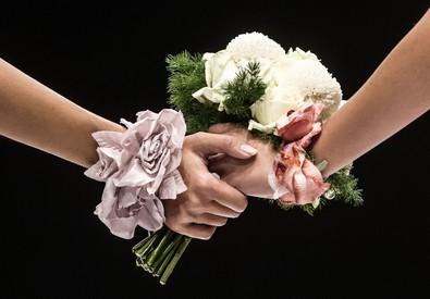 Due spose si tengono per mano (ANSA)