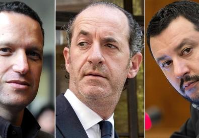 a Flavio Tosi (S), Luca Zaia e Matteo Salvini (ANSA)