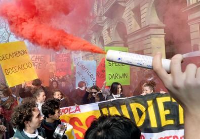 Scuola: corteo studenti a Torino,no a riforma Renzi-Giannini (ANSA)