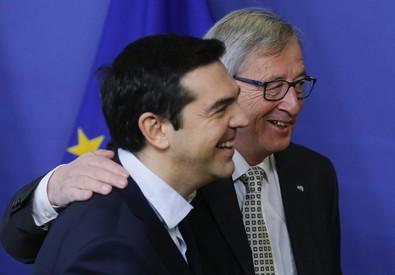 Jean Claude Juncker e Alexis Tsipras (ANSA)