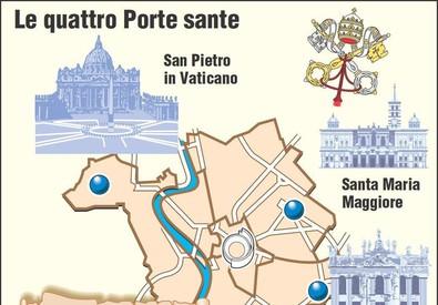 Le Porte Sante nelle quattro basiliche maggiori di Roma (ANSA)
