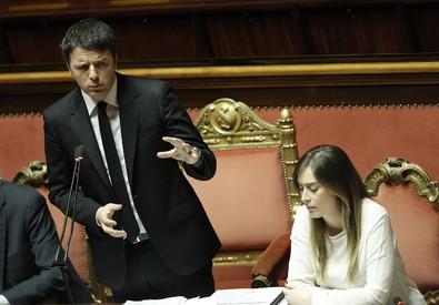 Matteo Renzi e Maria Elena Boschi in Aula (ANSA)