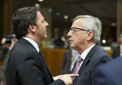 Renzi e Juncker (ANSA)