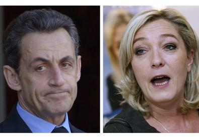 Nicolas Sarkozy e Marine Le Pen (ANSA)