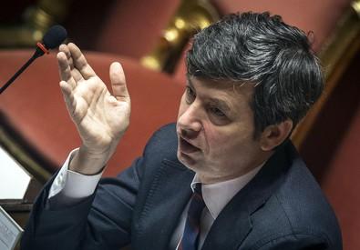Il ministro della Giustizia Andrea Orlando in Aula al Senato (ANSA)