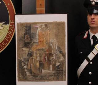 Il Picasso da 15 milioni di euro ritrovato dai Carabinieri Tutela Patrimonio Culturale (ANSA)