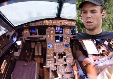 Andrea Lubitz e una cabina di pilotaggio della Germanwings (ANSA)