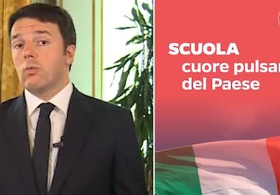 Il presidente del Consiglio, Matteo Renzi, in un fermo immagine tratto da un video pubblicato sul suo profilo Facebook (ANSA)