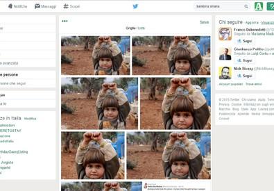 Le immagini della bimba siriana scattatate da Osman Sagirli che stanno facendo il giro del mondo (ANSA)