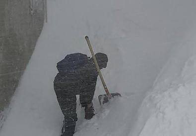 Maltempo: a Capracotta oltre un metro e mezzo di neve (ANSA)