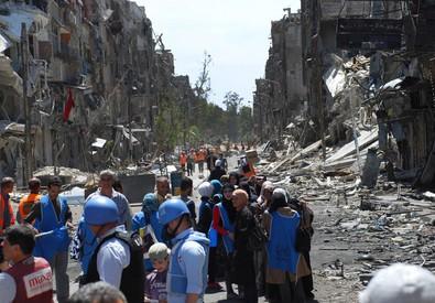 Il campo profughi di Yarmuk, a sud di Damasco (archivio) (ANSA)