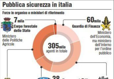 Le forze di sicurezza in Italia (ANSA)