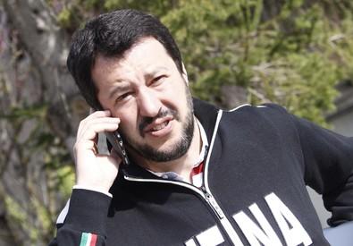 Matteo Salvini oggi a Siena (ANSA)