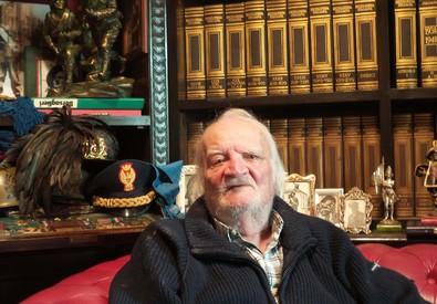 Bruno Contrada ritratto nel suo studio a Palermo (ANSA)