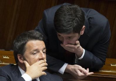 Matteo Renzi e Roberto Speranza (ANSA)