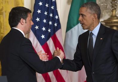 Obama e Renzi (ANSA)