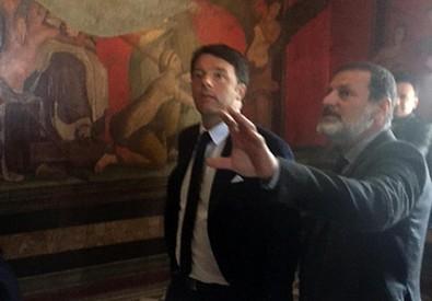 Renzi a Pompei (ANSA)
