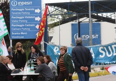 Whirlpool: la protesta dei lavoratori (ANSA)