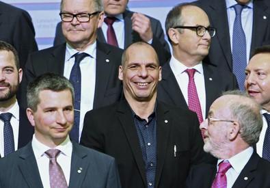 Varoufakis e i  ministri Ue (ANSA)
