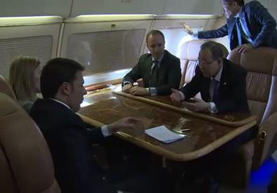 Colloquio Renzi-Ban-Mogherini su immigrazione (ANSA)