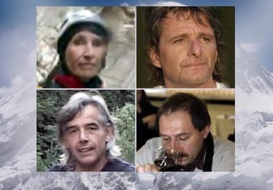 Dall'alto, a sinistra: Gigliola Mancinelli, Oskar Piazza, Renzo Benedetti e Marco Pojer (ANSA)