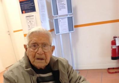 Il pensionato Pasquale Fesi, di 107 anni (ANSA)