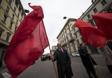 Un momento di una manifestazione dei sindacati (ANSA)